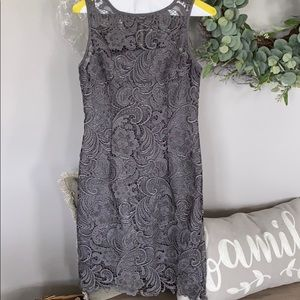 Cache lace overlay dress